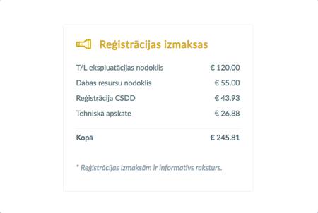 e-mobile.lv auto izmaksas
